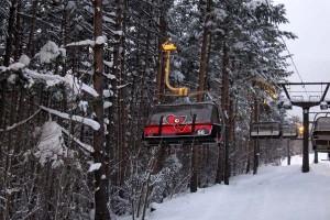 スキー場で「あいづライナー」に遭遇